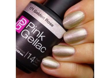 Pink Gellac 171 Golden Rose Color Esmalte Gel Permanente