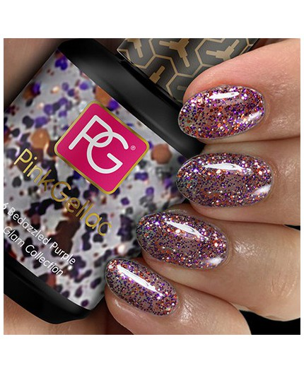 Pink Gellac 206 Bedazzled Purple Color Gel Permanente