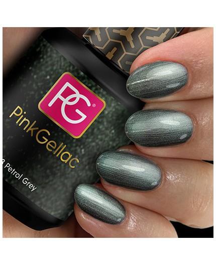 Pink Gellac 153 Petrol Grey Color Esmalte Gel Permanente