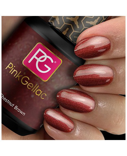 Pink Gellac 150 Chesnut Brown Color Gel Permanente