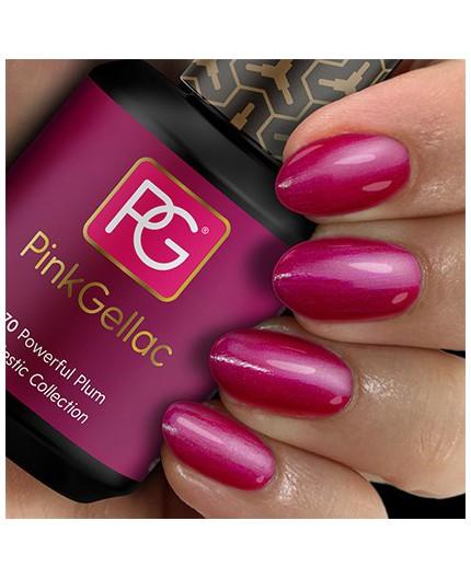 Pink Gellac 170 Powerful Plum Color Gel Permanente