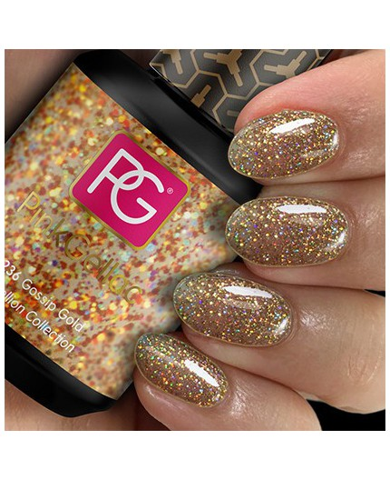 Pink Gellac 236 Gossip Gold Color Esmalte Gel Permanente