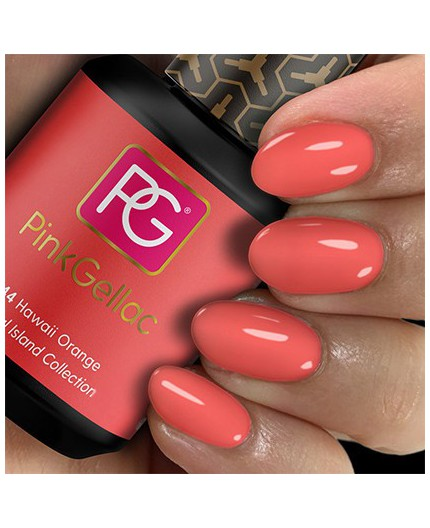 Pink Gellac 244 Hawaii Orange Color Esmalte Gel Permanente