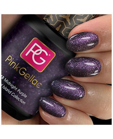 Pink Gellac 248 Midnight Purple Color Esmalte Gel Permanente