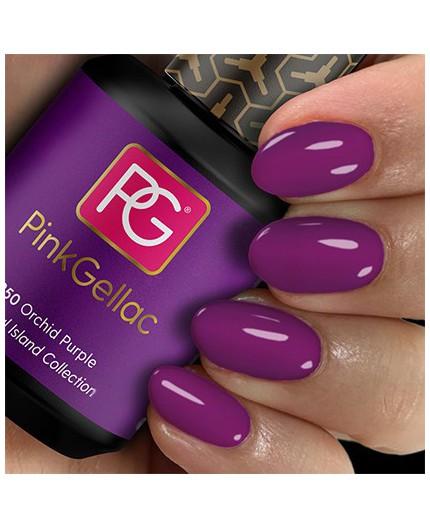 Pink Gellac 250 Orchid Purple Color Esmalte Gel Permanente