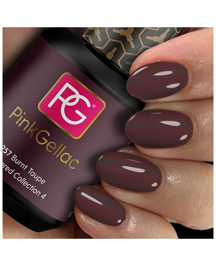 Pink Gellac 257 Burnt Taupe Color Esmalte Gel Permanente
