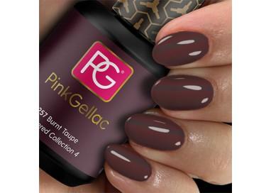 El color Burnt Taupe es marrón oscuro con tonalidad rojiza que queda bien con cualquier tono de piel.