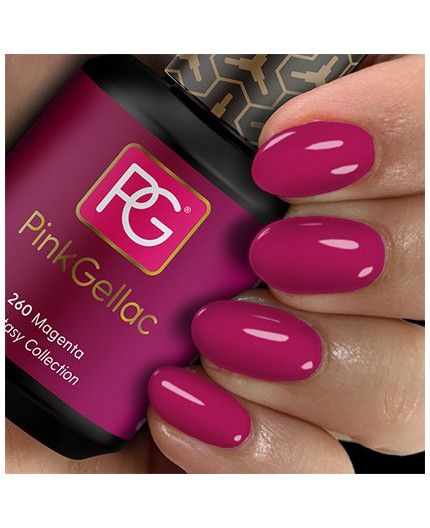 Pink Gellac 260 Magenta Color Esmalte Gel Permanente