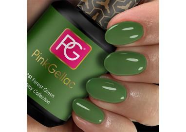 Pink Gellac 261 Forest Green es un color verde intenso. Verde bosque, verde ecológico.