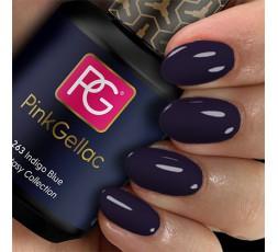 Pink Gellac 263 Indigo Blue es un color azul intenso. Si quieres llevar uñas oscuras este color te gustará