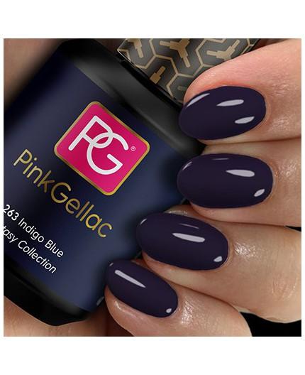 Pink Gellac 263 Indigo Blue Color Esmalte Gel Permanente