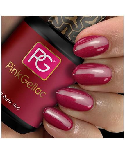 Pink Gellac 111 Rustic Red Color Esmalte Gel Permanente