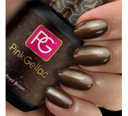 El 114 Royal Brown de Pink Gellac es un bonito color marrón con un sutil efecto perla.