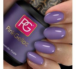 El 118 Lavender Purple de Pink Gellac es un esmalte permanente color lila opaco muy actual.