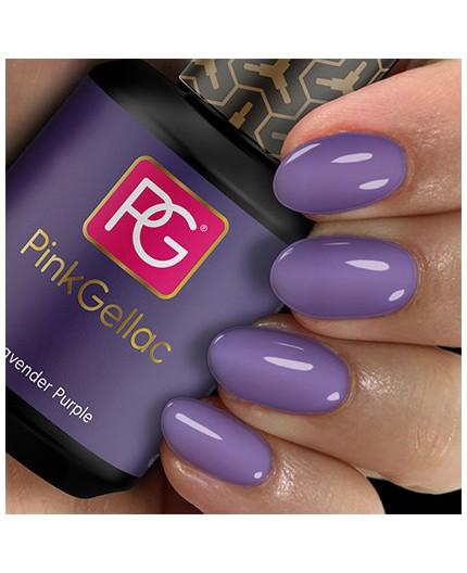 Pink Gellac 118 Lavender Purple Color Esmalte Gel Permanente