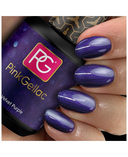 Pink Gellac 119 Velvet Purple Color Esmalte Gel Permanente