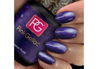 El esmalte 119 Velvet Purple de Pink Gellac es de un elegante color violeta con un sutil efecto perla