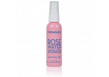 Spray hidratante agua de rosas con ácido hialurónico de Frownies para rellenar arrugas