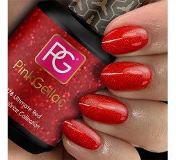 Pink Gellac 178 Ultimate Red Color Esmalte Gel Permanente