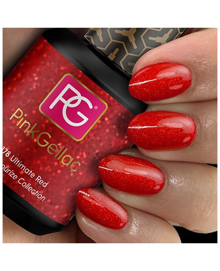 Pink Gellac 178 Ultimate Red Color Esmalte Gel Permanente