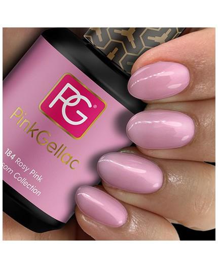 Pink Gellac 184 Rosy Pink Color Esmalte Gel Permanente