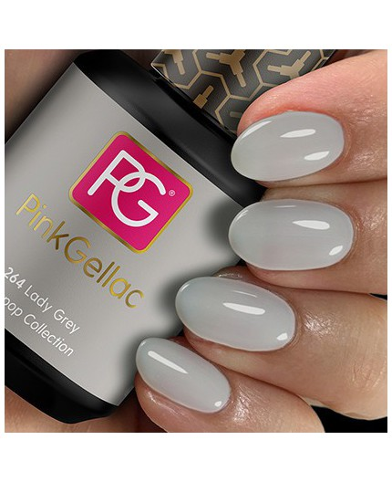 Pink Gellac 264 Lady Grey Color Esmalte Gel Permanente