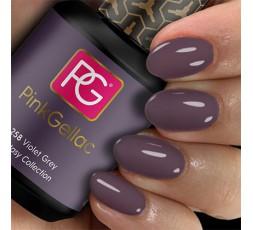 Pink Gellac 258 Violet Grey es un color gris precioso con un resplandor púrpura que da un resultado sorprendente