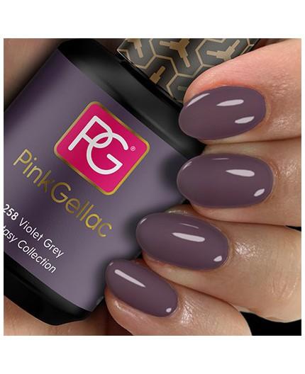 Pink Gellac 258 Violet Grey Color Esmalte Gel Permanente