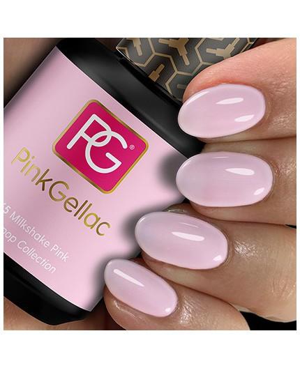 Pink Gellac 265 Milkshake Pink Color Esmalte Gel Permanente