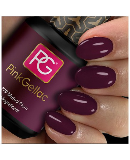 Pink Gellac 279 Muted Plum Color Esmalte Gel Permanente