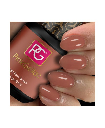 Pink Gellac 283 Rosy Brown Color Esmalte Gel Permanente