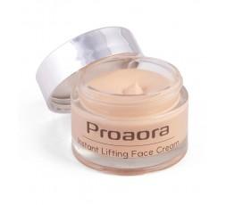Nueva crema de día Proaora con el efecto lifting que proporciona Liftonin® Xpress notable de inmediato y que dura varias horas.