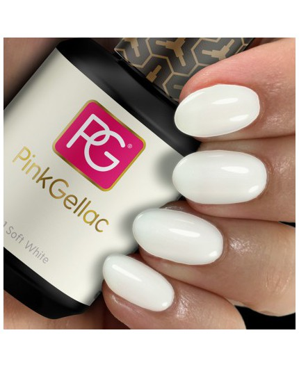 Pink Gellac 101 Soft White Color Esmalte en gel permanente