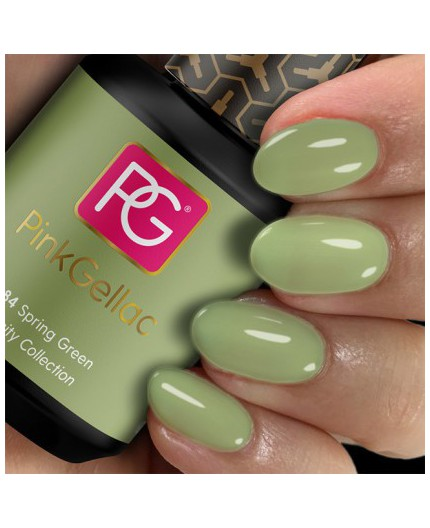 Pink Gellac 284 Spring Green Color Esmalte Gel Permanente