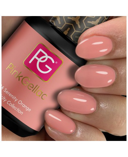 Pink Gellac 286 Serenity Orange Color Esmalte Gel Permanente