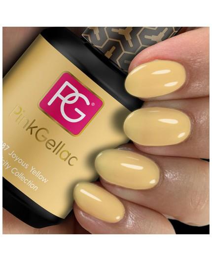 Pink Gellac 287 Joyous Yellow Color Esmalte Gel Permanente