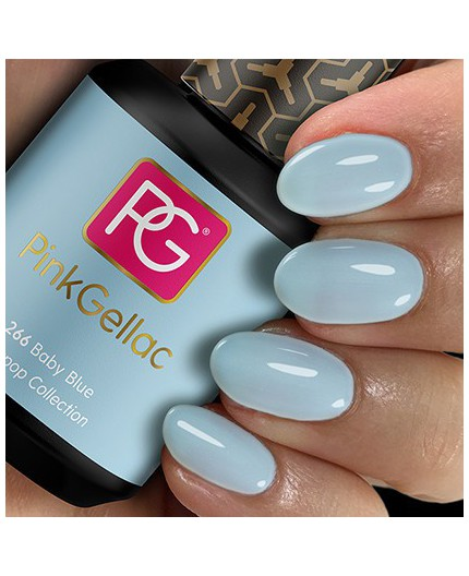 Pink Gellac 266 Baby Blue Color Esmalte Gel Permanente