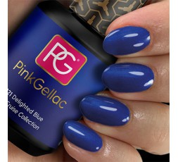 Pink Gellac 221 Delighted Blue - Esmalte en gel permanente azul