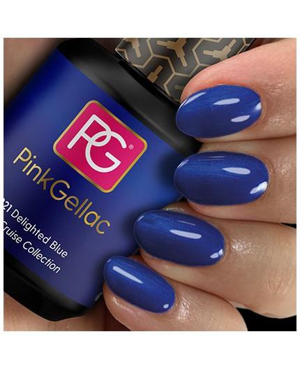 Pink Gellac 221 Delighted Blue Color Esmalte Gel Permanente
