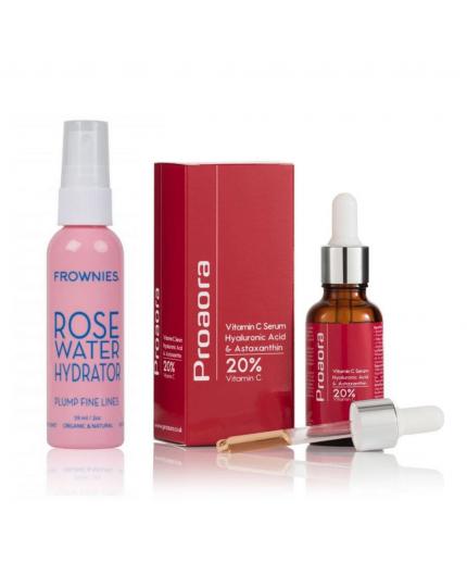 Tónico Agua de Rosas + Serum Proaora