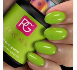 Pink Gellac esmalte en gel permanente color verde manzana 293 Dancing Green.