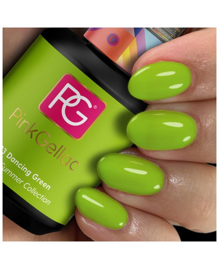 Pink Gellac 293 Dancing Green color esmalte gel permanente