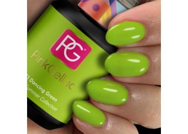 Pink Gellac esmalte en gel permanente color verde manzana 293 Dancing Green.