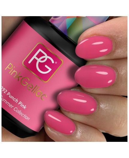 Pink Gellac 292 Punch Pink color esmalte gel permanente rosa.