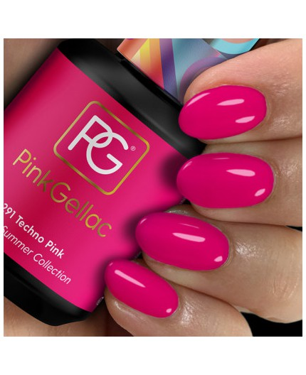 Pink Gellac 291 Techno Pink color esmalte gel permanente