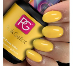 Pink Gellac 289 Breeze Yellow color esmalte gel permanente amarillo intenso