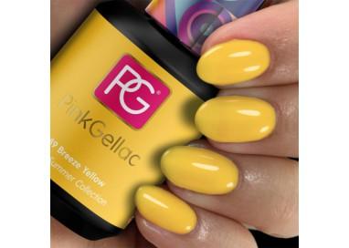 Pink Gellac 289 Breeze Yellow color esmalte gel permanente amarillo intenso