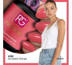 Pink Gellac 290 Sunblaze Orange color esmalte gel permanente. Moda