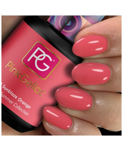 Pink Gellac 290 Sunblaze Orange color esmalte gel permanente