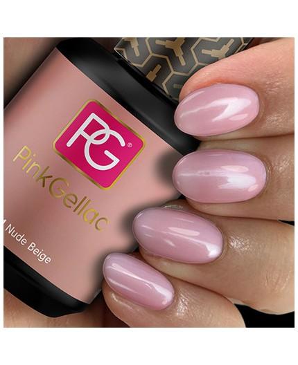 Pink Gellac 154 Nude Beige Color Esmalte Gel Permanente